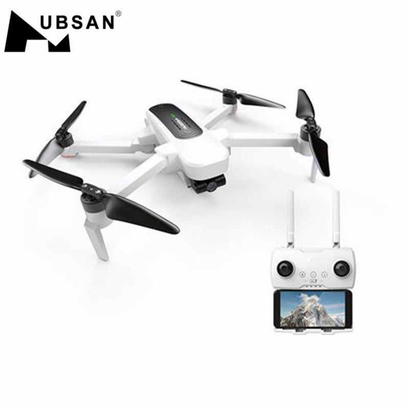 Hubsan H117S Zino GPS 5G WiFi 1KM FPV avec caméra 4K UHD 3 axes cardan RC Drone quadrirotor RTF noir/blanc
