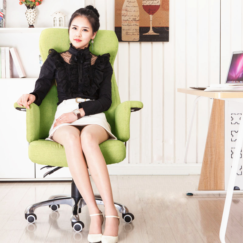 Quality Simple Fashion Linen Office Chair Home Leisure Lying Breathable Computer Chair Lifting Swivel Super Soft Boss Chair
