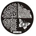 Mejor precio Nueva Buena Calidad 2016 Mariposa Patrón Nail Art Imagen Placas Estampación Sello Plantilla Manicura Herramienta Del Arte Del Clavo 1 UNID