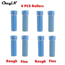 8Pcs High Quality Electric Foot Smoother Replacement Roller Grinding Head Feet Care Tool Refills Head Rough & Fine Wholesale P00