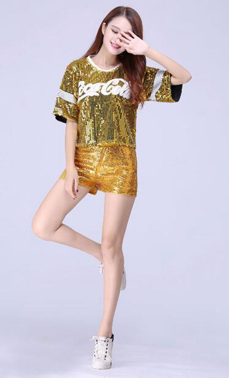 5e4d3a45e1 US $28.49 5% OFF|High quality!2018 Hot Football Girl Cheerleading Uniforms  Hip Hop Clothing For Women Performance Costume,Free shipping -in ...