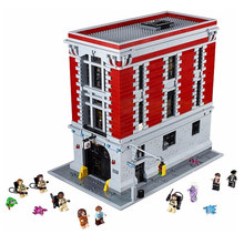 LEPIN 16001 Legoing Creator Ghostbusters Firehouse Headquarters 4695pcs Set Blocks Mini Legoing City Street View Creator 75827(China)