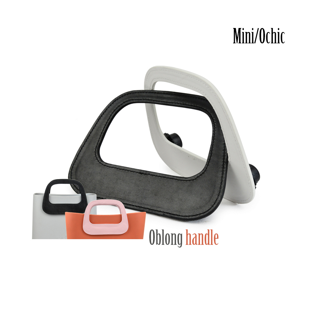 New Oblong Faux PU Leather Handle Fit For Mini OBAG O CHIC Bag Body Oblong Handle For O Bag Mini Ochic