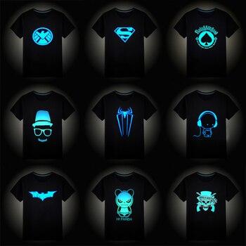 2020 Christmas Boys Girls Luminous Short Sleeves T-Shirts Children's Tshirt 3D Cartoon T Shirt Baby Girl Tops Kids Tees Costume - discount item  43% OFF Children's Clothing