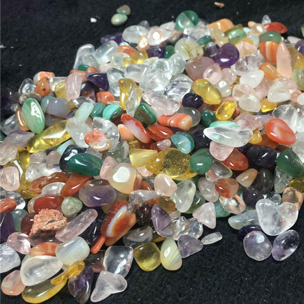 100G naturalne mieszane kolor kryształ kwarcowy żwirek domu Fish Tank ogród roślin DIY ozdobny element akcesoriów