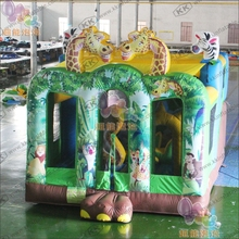 Safari slide inflatable bounce combo with free EN14960