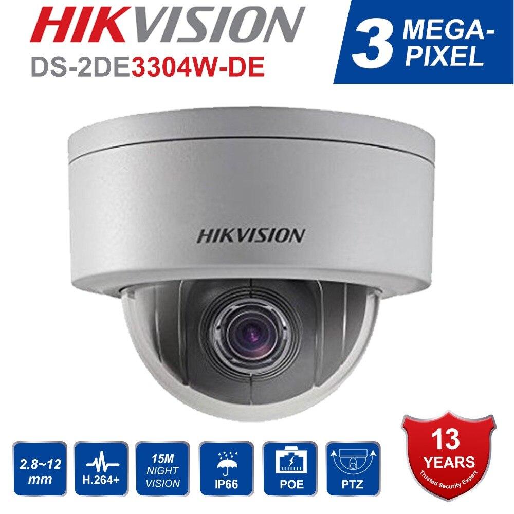 Hikvision PTZ Macchina Fotografica del IP di DS-2DE3304W-DE 3MP Network Mini Dome Camera 4X Zoom Ottico Supporto Ezviz Vista A Distanza di Sicurezza Della Macchina Fotografica