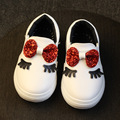 2017 Spring/Autumn Children Shoes For Girls Leather Casual Shoes With Bow Kids Baby Princess Sneaker Pea Shoes Fashion Single