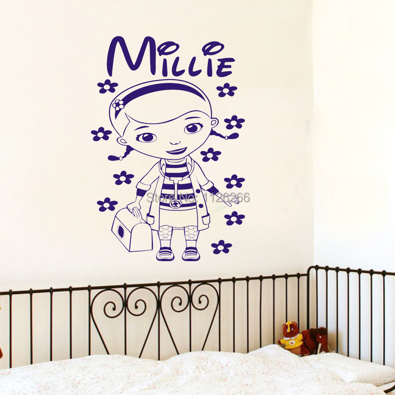 kids decorative wall stickers doc mcstuffins girls