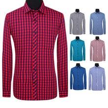 Aoliwen 2019 Mens Plaid Flannel 100%Cotton Long Sleeve Shirt Brand men casual shirt high quality Spring and autumn shirts