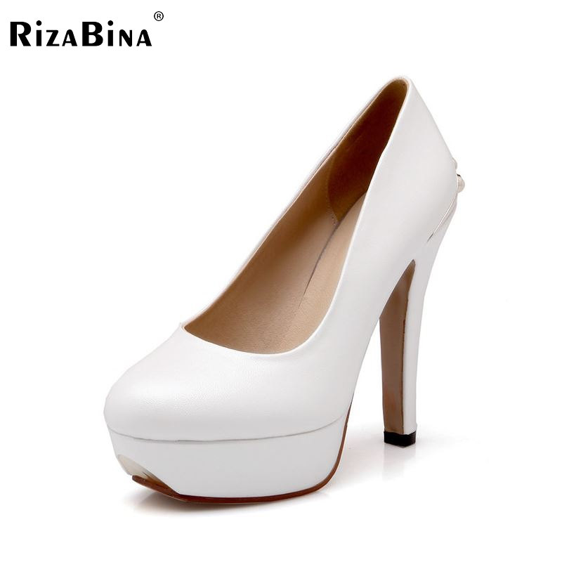 ФОТО women stiletto high heel shoes platform brand sexy lady quality footwear fashion heeled pumps heels shoes size 34-39 P17677