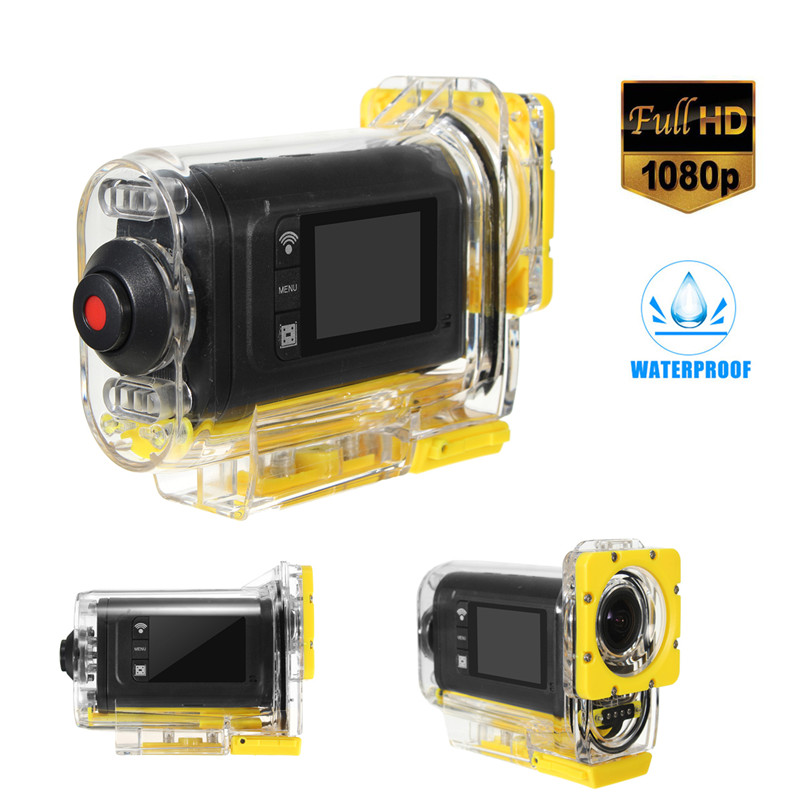 Mini Waterproof Underwater Action Video Camera 1080 HD Bike Motorcycle Sports WIFI Helmet Cam Pro Extreme Sport Cam