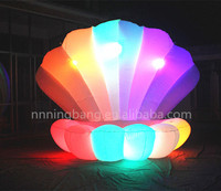 Free shipping diameter 3m height 3.5m inflatable clam shell for birthday party decoration