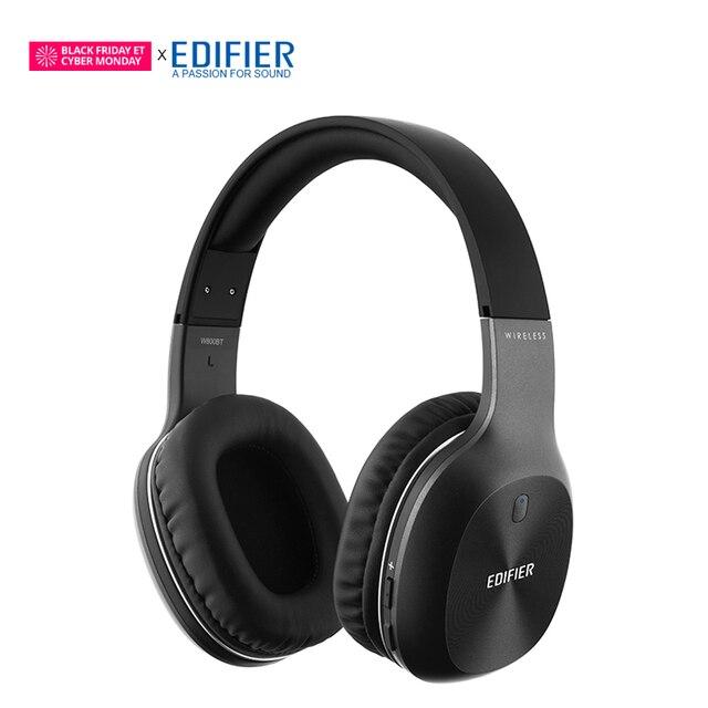 EDIFIER W800BT Bluetooth Fone De Ouvido Sem Fio Over-Ear Noise Isolation stereo HIFI Bluetooth 4.0 Fone de Ouvido Com Microfone Para Tablet Telefone