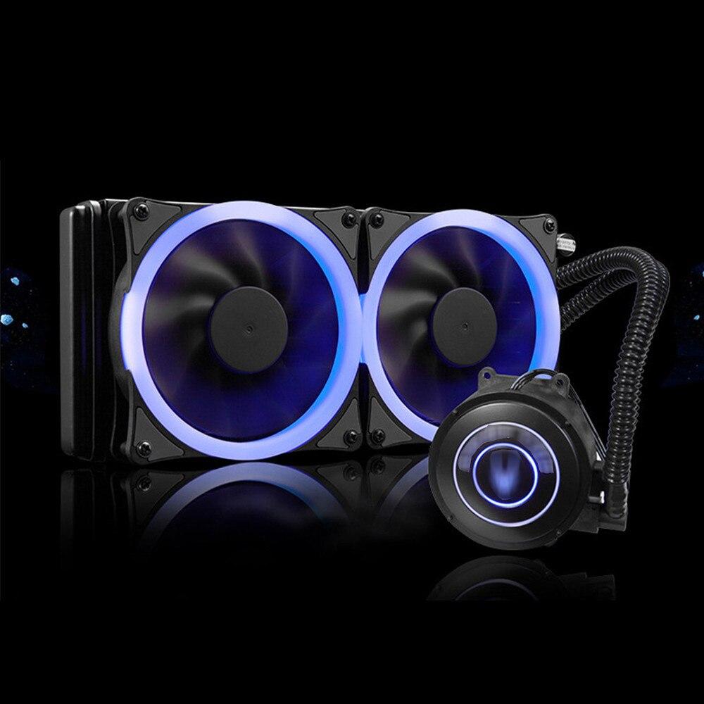 Single / Dual 120mm PWM LED Fan CPU Watercooling Kit Radiator Liquid CPU Cooler Desktop PC for Intel LGA/ AMD Socket jonsbo cr 101 desktop pc heat pipe cpu radiator light led fan