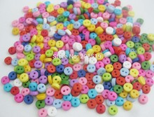 NBNLOL 500pcs/lot Multicolor 6mm Round little sewing buttons DIY decorative button accessories