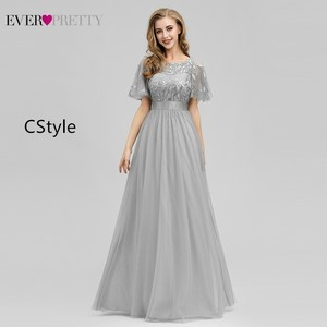 Image 3 - Robe De Soiree Ever Pretty Sexy Mermaid Evening Dresses Long Sparkle Draped Tulle Formal Dresses Elegant Women Party Gowns 2020