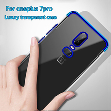 for Oneplus 7 pro Original Case Soft Silicone Flexible Anti-shock Slim Cover for Oneplus 6 6T 5T Transparent Cover Coque Fundas