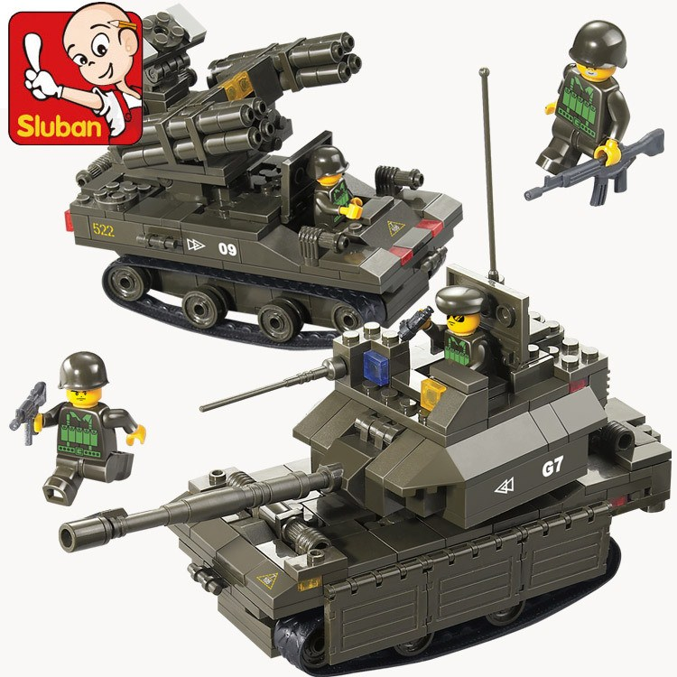 Sluban Model Building Compatible lego Lego B0289 419pcs Model Building Kits Classic Toys Hobbies Military Tank Air