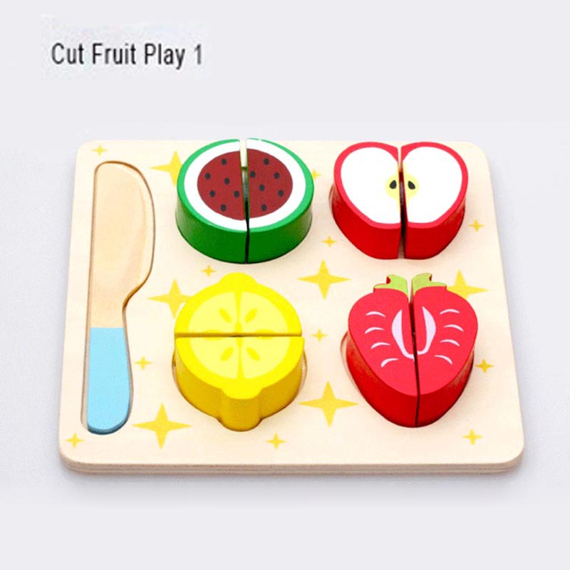 wooden toy kitchen cut fruits vegetables dessert kids cooking kitchen toy food pretend play puzzle educational toys for childrenin kitchen toys from toys
