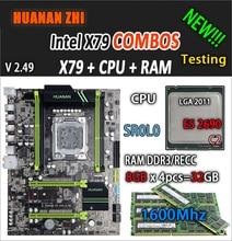 HUANAN ZHI V2.49 X79 płyta główna LGA2011 ATX combo E5 2690 C2 SR0L0 4x8G 32GB 1600Mhz USB3.0 SATA3 PCI E NVME M.2 SSD