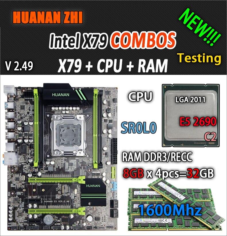 HUANAN ZHI V2.49 X79 scheda madre LGA2011 ATX combo E5 2690 C2 SR0L0 4x8G 32 GB 1600 Mhz USB3.0 SATA3 PCI-E NVME M.2 SSDHUANAN ZHI V2.49 X79 scheda madre LGA2011 ATX combo E5 2690 C2 SR0L0 4x8G 32 GB 1600 Mhz USB3.0 SATA3 PCI-E NVME M.2 SSD