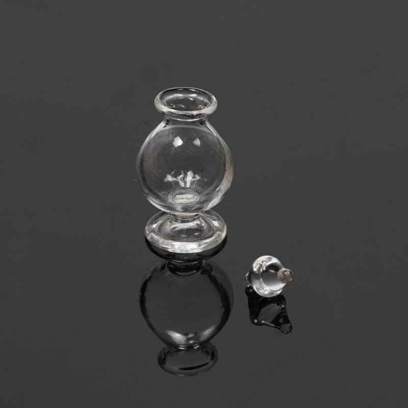 Dongzhur قارورة حلوى شفافة صغيرة مع زجاج شفاف مخروط دمية المطبخ لتقوم بها بنفسك المنمنمات 1:12 اكسسوارات WWP2261