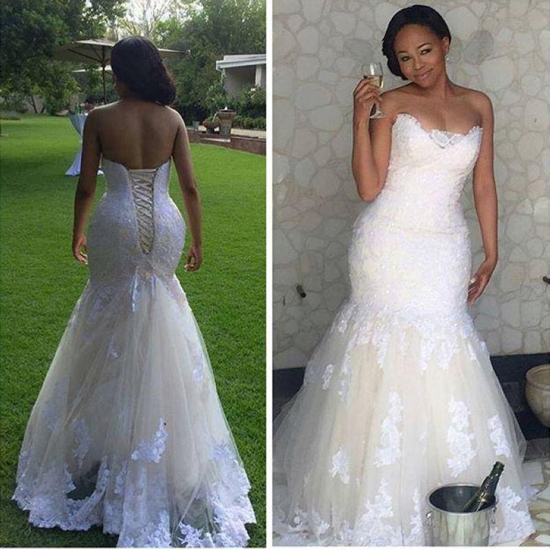 Plus Size Corset Mermaid Wedding Dress
