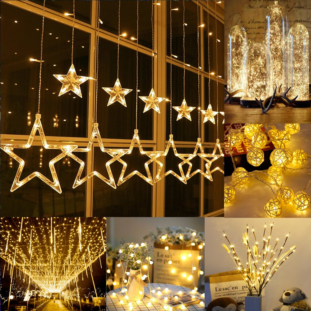 Christmas Tree Decorations For 2019: 2019 Christmas String Light LED Ornaments Christmas Tree