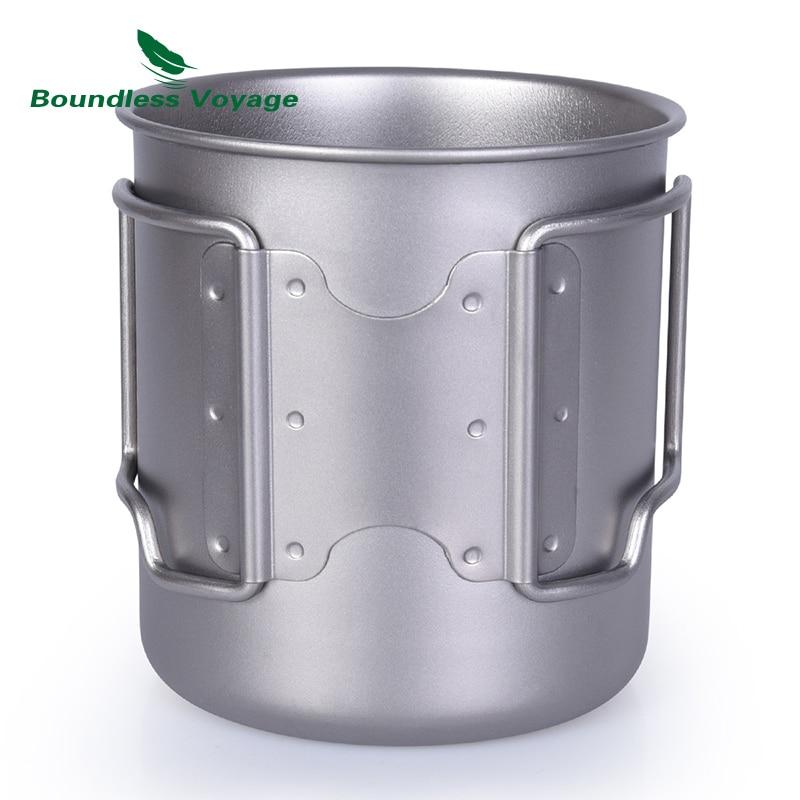 420ml Titanium Cup sa poklopcem Camping Mug Outdoor Water Cup - Kampiranje i planinarenje - Foto 4