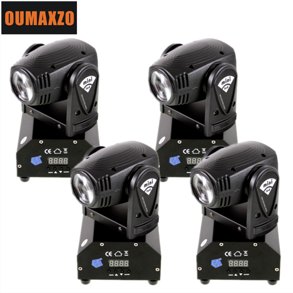 10W Mini Moving Head Beam 4in1 RGBW LED DMX512 Disco Stage lighting For DJ RGBW 10W moving head light High Power 10Watt 4 IN1 2pcs lot rgbw double head 8x10w led beam light mini led spider light dmx512 control for stage disco dj equipments free shipping