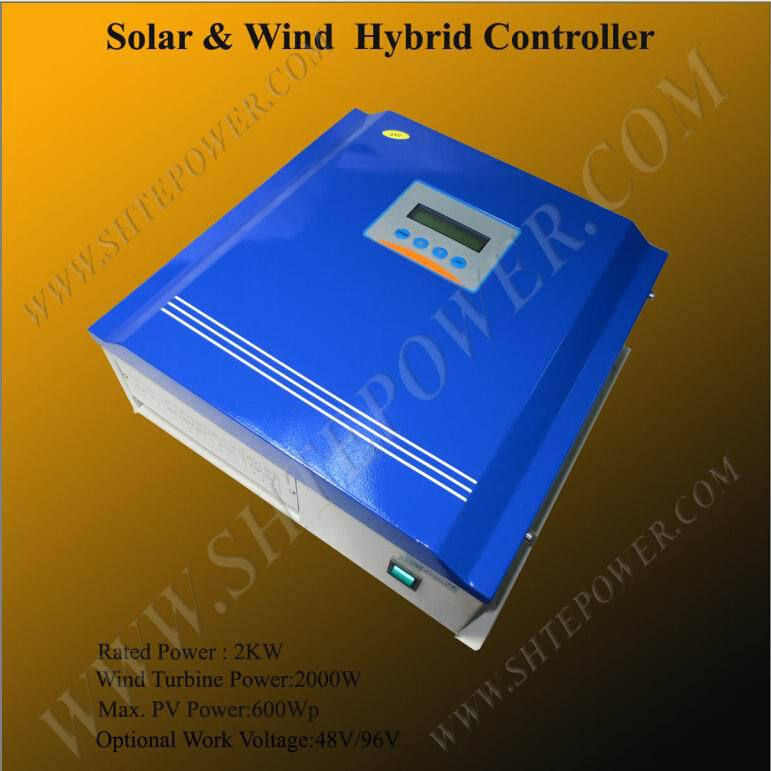 Advanced design 2000w solar wind hybrid charge 48v 96v controller with lcd display цена