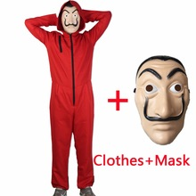 Salvador Dali Movie Costume Pieniądze Heist House of Paper La Casa De Papel Cosplay Kostiumy na Halloween z maską