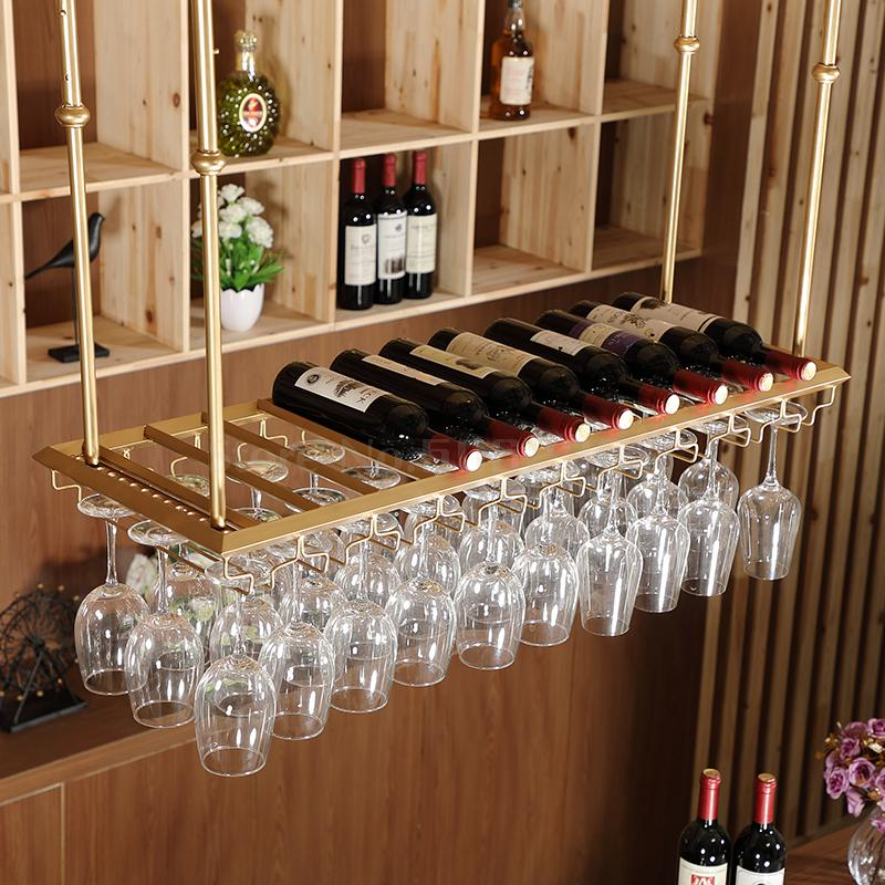 porte verre a vin suspendu a l envers decoration pour la maison bar europeen
