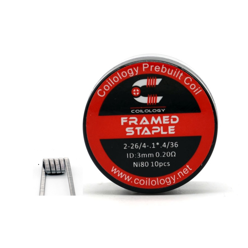 Coilology PreBuilt Coil Framed Staple Ni80 (0.2ohm) Vape Wire For RTA Tank/RDA/RDTA Vape Accessory