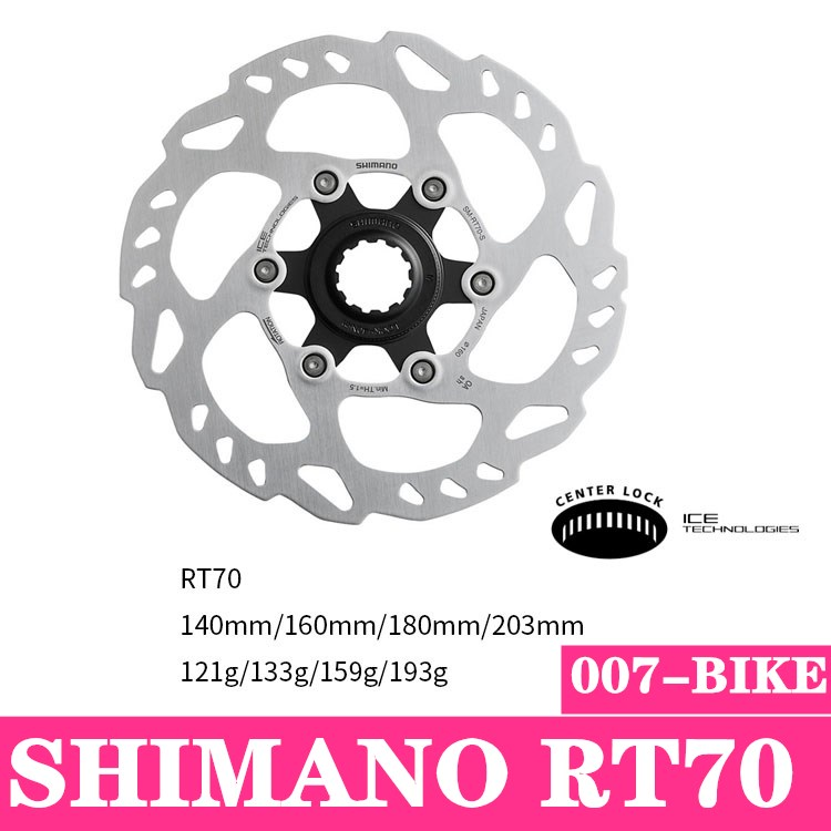NEW SHIMANO SLX SM-RT70 CENTERLOCK MTB ROTOR DISC 160MM 180MM