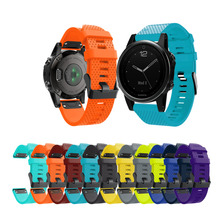 Mijobs 20MM Watchband For Garmin Fenix 5s Band Quick Release Silicone Watch Wrist Strap For Garmin Fenix 5s Plus все цены