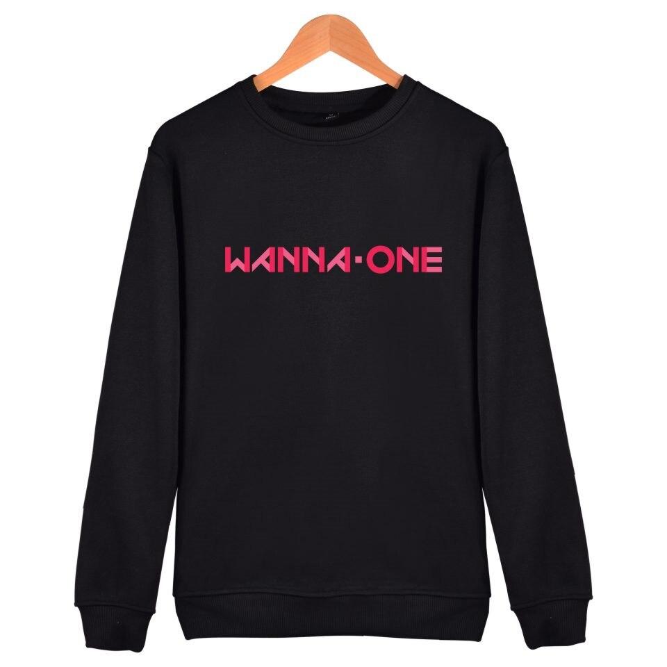 Kpop WANNA-ONE Capless Harajuku Hoodies Korea Idol Team Hip Hop Sweatshirt Women/Men Fashion Funny Female Clothes