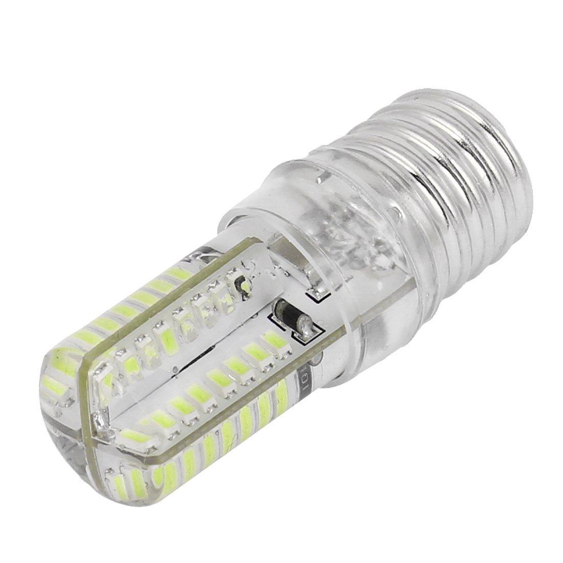 E17 Socket 5W 64 LED Lamp Bulb 3014 SMD Light Pure White AC 110V-220V