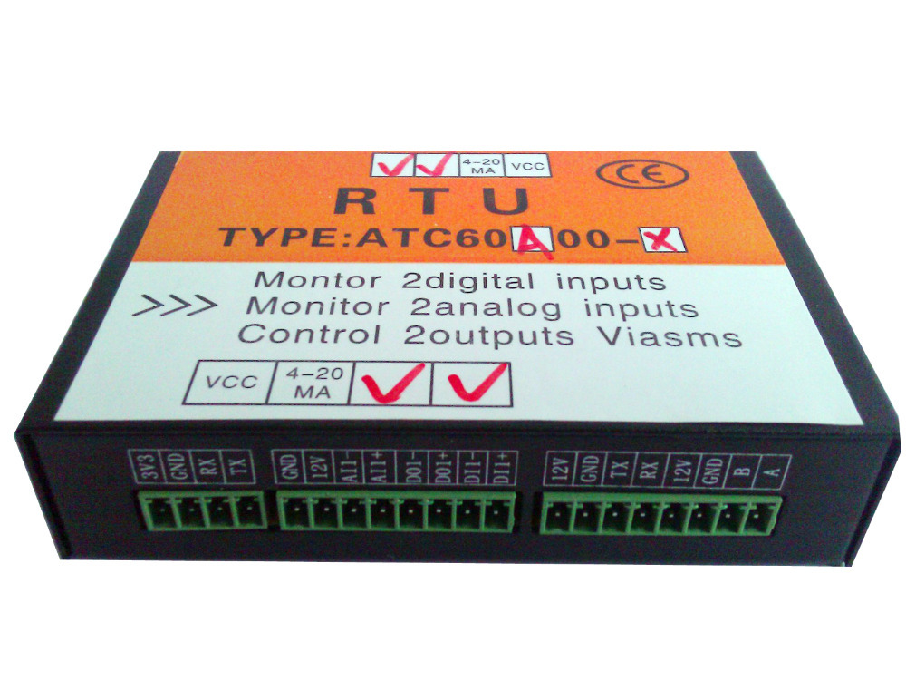 GSM SMS Controller Alarm, GSM Water Leak Alarm 2AI,2DI(with 12v relay) and 2DO(with 12v relay)