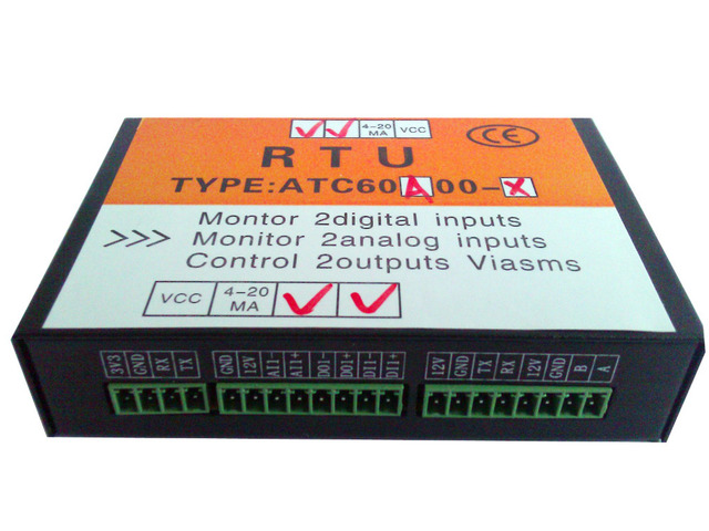 GSM SMS Controller Alarm, GSM Water Leak Alarm 2AI,2DI(with 12v relay) and 2DO(with 12v relay).