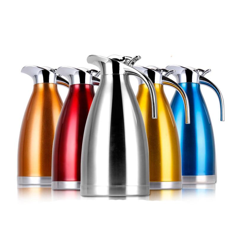 5 barev 1,5 l 2L kávová termoska hrnek z nerezové oceli Čajová - Kuchyně, jídelna a bar