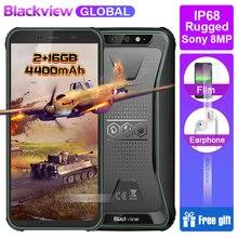 Hızlı gemi Blackview BV5500 IP68 Su Geçirmez güçlendirilmiş akıllı telefon 2 GB + 16 GB 5.5
