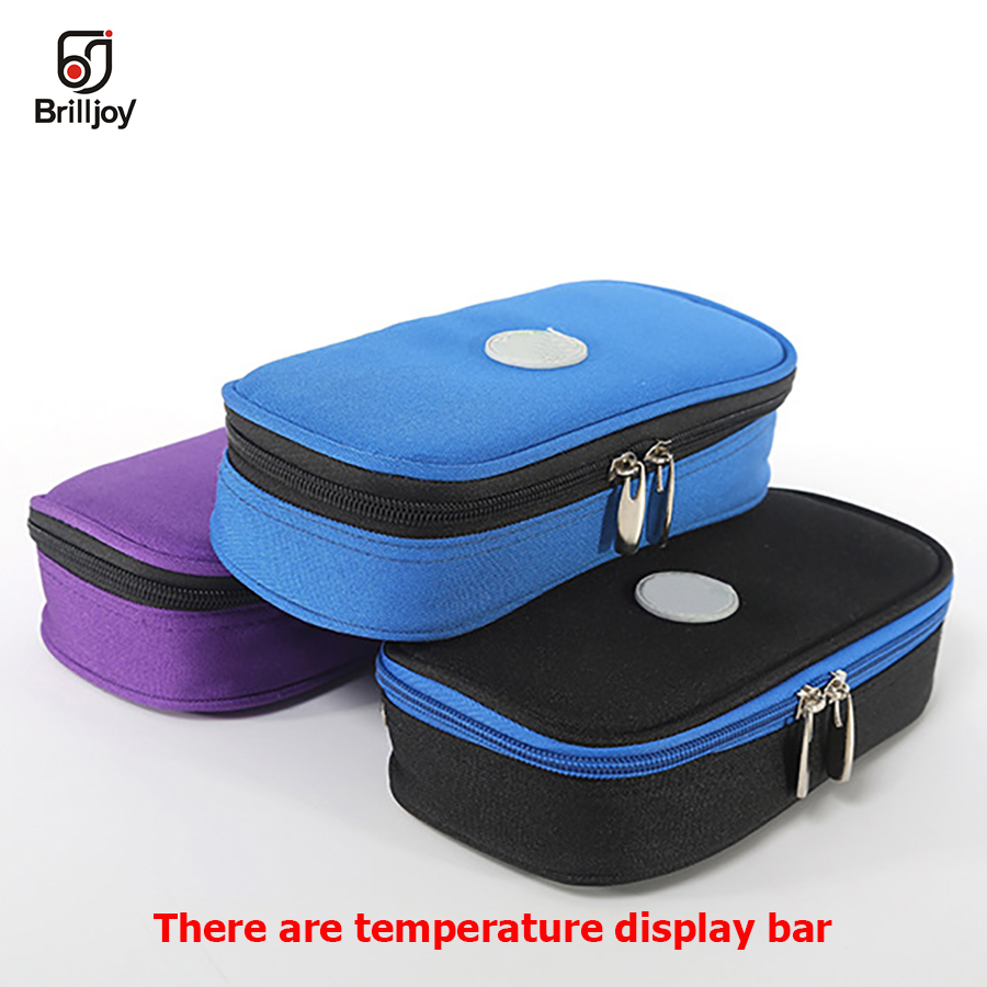 Portable Diabetic Insulin Ice Pack Cooler Bags Protector Case Injector Functional Bags Bolsa Termica Degree Centigrade Display