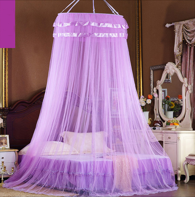 Mosquito net Bed Canopy Elegant Home Room Bed Canopy Princess Round Lace Girls Bed Dome Netting & Mosquito net Bed Canopy Elegant Home Room Bed Canopy Princess ...