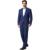 (Jaqueta + Calça) homens Ternos Xadrez 2016 Marca de Moda Designer de Cinza e Azul Escuro Business Casual Slim Fit Homme 2-Piece Suit