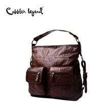 Cobbler Legend 2017 Female Genuine Leather Bag Large Women Leather Handbags Famous Brand Messenger Bags Big Ladies Shoulder Bag