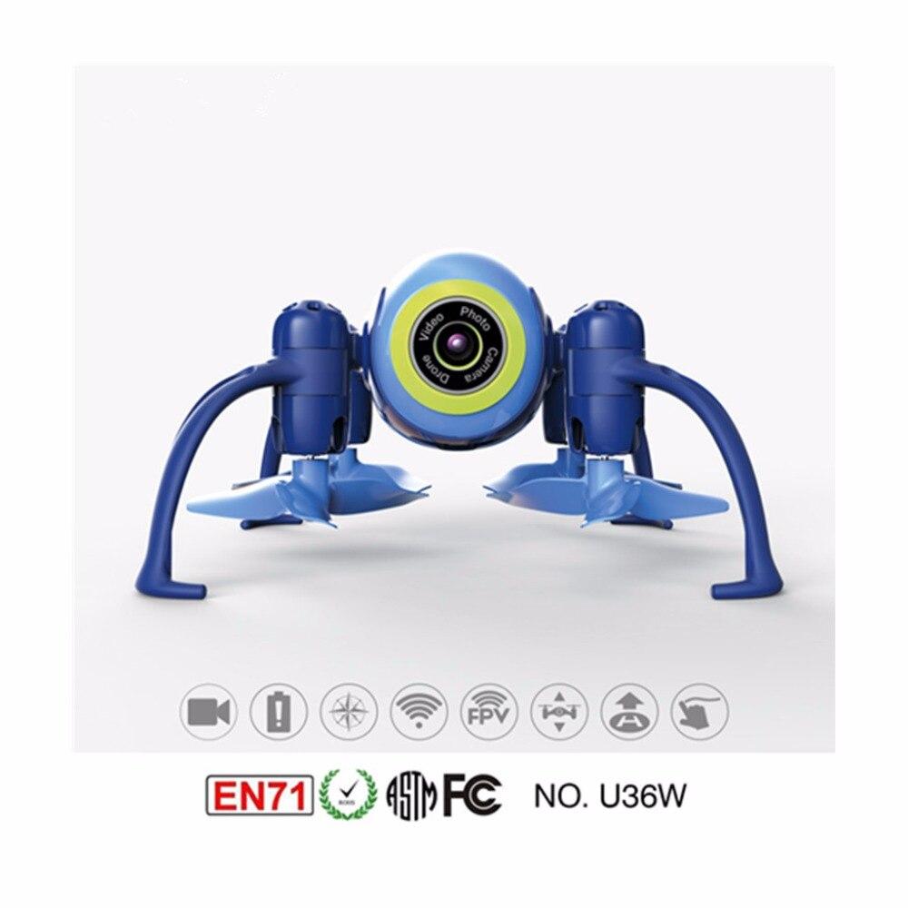 U36W Blue Aircraft 2 4Ghz WIFI FPV mini font b drone b font with camera