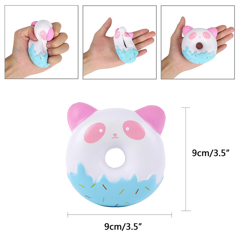 10 CM Cute Squishy Donut Cream Scented Super Slow Rising Phone Strap Squeeze Toy Gift