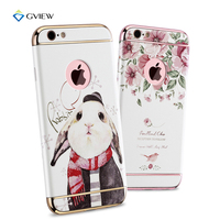 For IPhone 6s Case Cover 3D Stereo Relief Painting Hard PC Back Cover Colorful Plating Cases